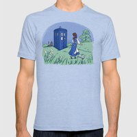 Adventure In The Great W… Mens Fitted Tee Tri-Blue SMALL