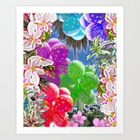 BALLOON LOVE:  Tropical … Art Print