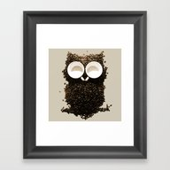 Framed Art Print featuring Hoot! Night Owl! by Marco Angeles