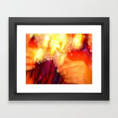 B R A i N Framed Art Print