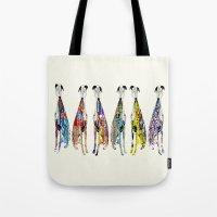 greyhound racers Tote Bag