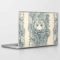 tiger Laptop & iPad Skins featuring Tiger Tangle by micklyn