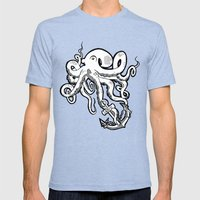 Octopus Love Mens Fitted Tee Tri-Blue SMALL