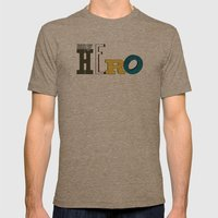 myHERO Mens Fitted Tee Tri-Coffee SMALL