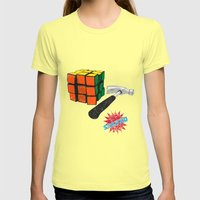 solved ! Womens Fitted Tee Lemon SMALL