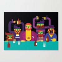 Bar People Canvas Print