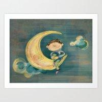Dreamy Boy Art Print