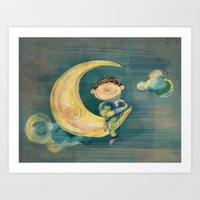 Dreamy Boy Art Print