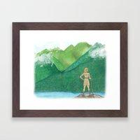 Explorer Girl Framed Art Print