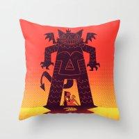 Pizza Demon Throw Pillow