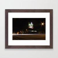 White Stag/Made in Oregon/Portland, Oregon Framed Art Print