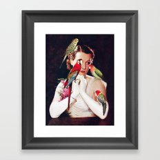 Bird Lady Framed Art Print