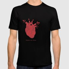 Hearts are Gross Mens Fitted Tee SMALL Black
