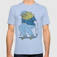 Skate Beard Mens Fitted Tee Athletic Blue SMALL