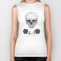 Skull N' Roses Biker Tank