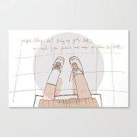 Perfect Things Don't Bri… Canvas Print