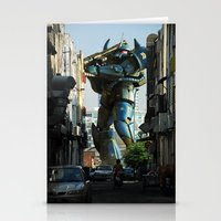 Mech Behind A Back Alley Stationery Cards