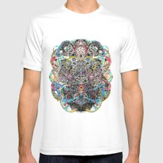 Mask White Mens Fitted Tee SMALL