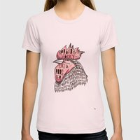 Proud Like a Rooster Womens Fitted Tee Light Pink SMALL