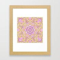 Cassy In Lilac Framed Art Print