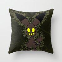 Corrupted Pika Throw Pillow