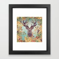 THE FRIENDLY STAG Framed Art Print