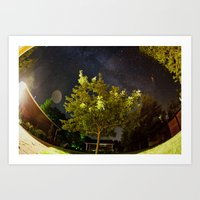 The Tree and the Stars Art Print