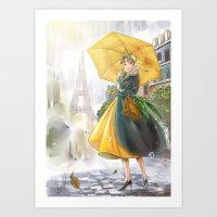 bonjour paris! Art Print
