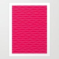 Red & White Heart Garlan… Art Print