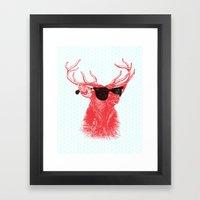 Young Buck. Framed Art Print