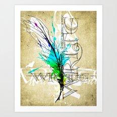 Write Now Art Print