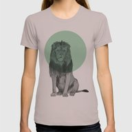 Sitting Lion Womens Fitted Tee Cinder SMALL