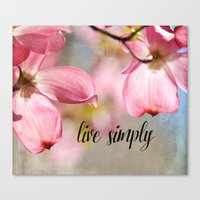 Pink Dogwood Flowers Liv… Canvas Print