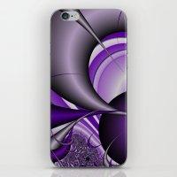 Purple Thorn Fractal iPhone & iPod Skin