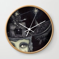 Ghost Light Wall Clock