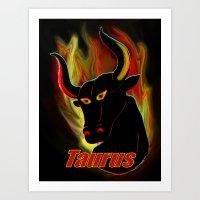 Taurus the Bull Art Print