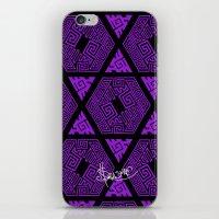 Kagome Greek Fret ... Purple iPhone & iPod Skin