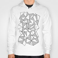 Abstraction Lines Black … Hoody
