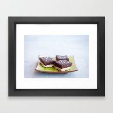 Chocolate Dulce de Leche Bars Framed Art Print