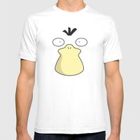 Psyduck  Mens Fitted Tee White SMALL