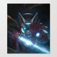 Zero Suit Iron Man  Canvas Print