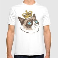 Grumpy King Mens Fitted Tee White SMALL