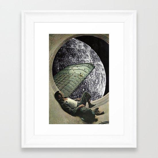 Moon Jock Framed Art Print