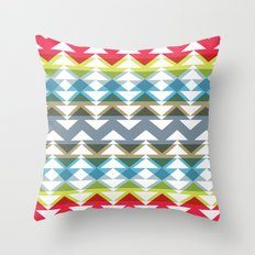 chevron ripple v1 Throw Pillow