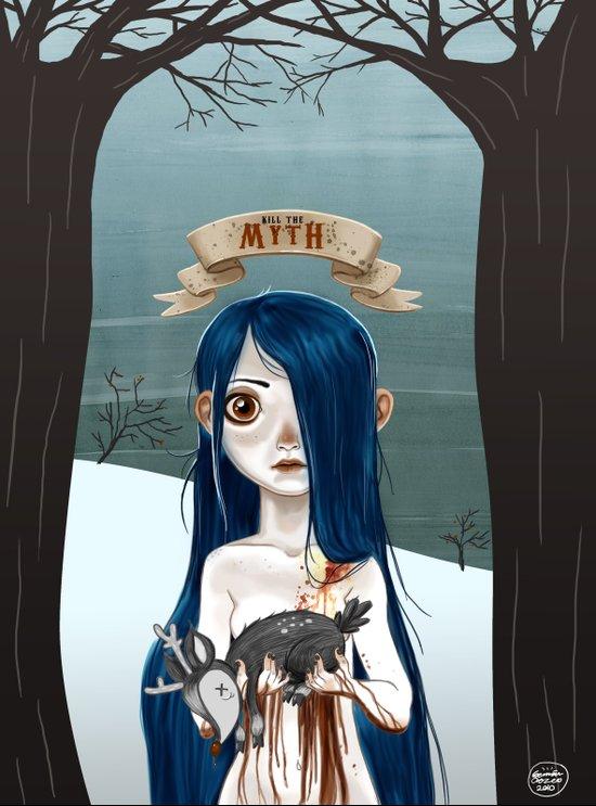 Kill The Myth Art Print