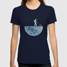 Mown Womens Fitted Tee Navy LARGE