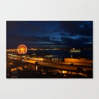 View from Pike's Place market Canvas Print