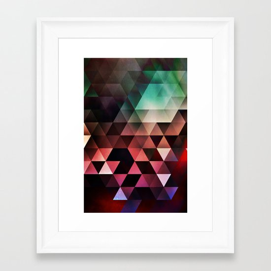 gyyn tydyy Framed Art Print