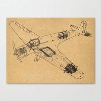 Airplane diagram Canvas Print