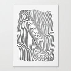 Minimal Curves Canvas Print